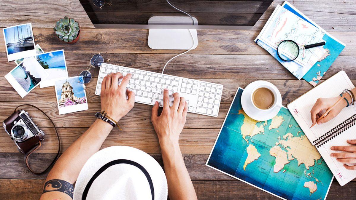 การเดินทางและการท่องเที่ยวออนไลน์ – เรียนรู้จากระยะไกล